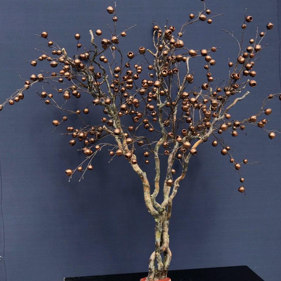 bruin goude trendy appelboom