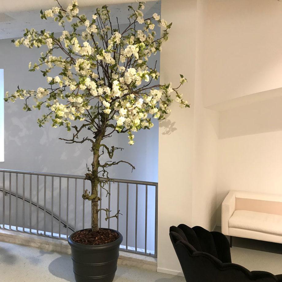 kunst bloesemboom woonkamer